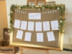 Table plan for a wedding at the Berry Head Hotel.