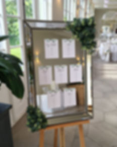 Wedding table plan available for hire for weddings in Devon and Torbay. Pictured at Deer Park.