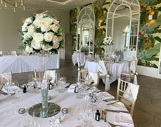 Centrepieces available for hire for weddings in Devon and Torbay. Pictured at Deer Park.