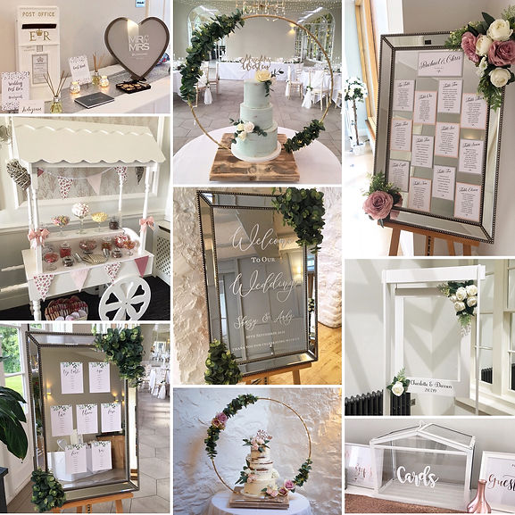 Wedding decor & accessory package available for hire for weddings in Devon and Torbay.