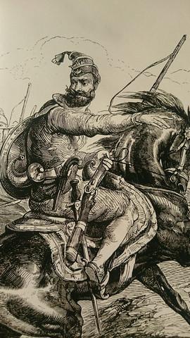 A Akaali Nihang on horseback