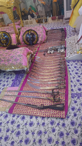 Weapons from the inner sanctum of Takhat Sachkhand Sri Hazur Sahib