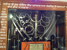 The Shastar belonging to Guru Gobind Singh Ji currently at Paunta Sahib