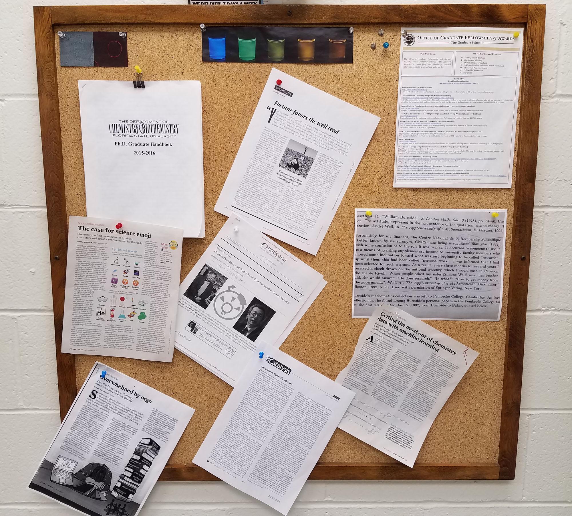 kitchen bulletin board