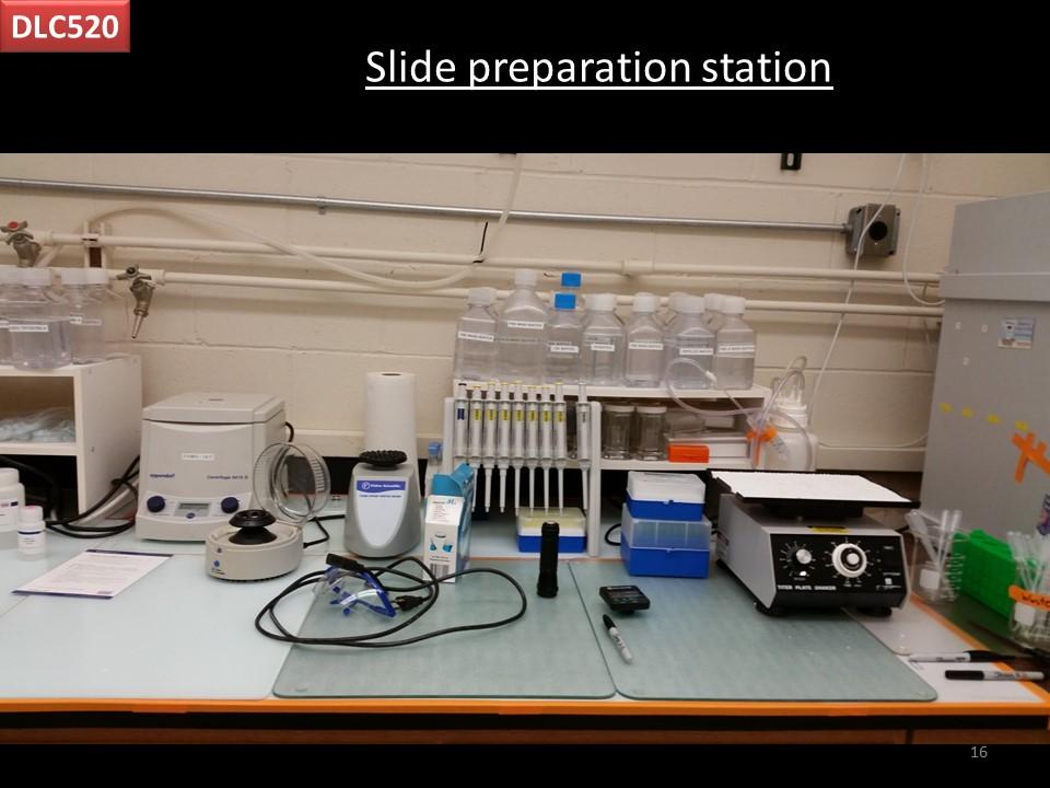 slide preparation station