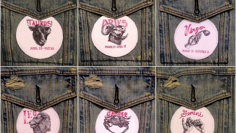 Astrology Sign Iron-On Patch