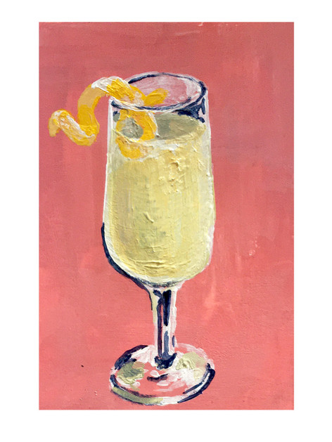 French 75. Acrylic on paper. 2020.