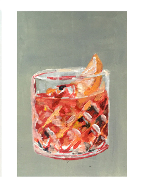 Negroni. Acrylic on paper. 2020.