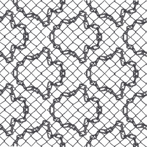 Chain pattern digital design for printing on hankerchiefs. 2020.
