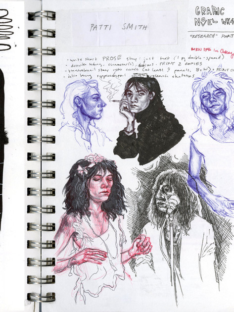 page from sketchbook