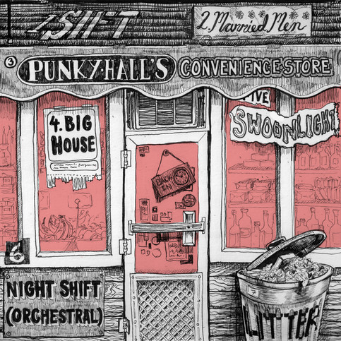 """Back cover of """"Swoonshine"""" by  Courtside Lush, with tracklisting"""