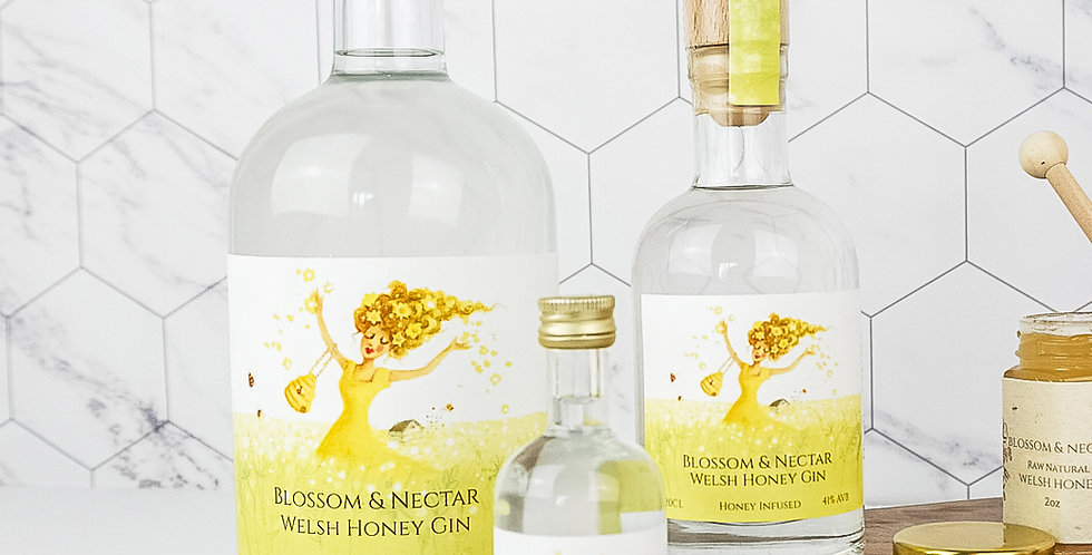 20cl Blossom & Nectar Gin Honey Infused 10% Honey (Wholesale)