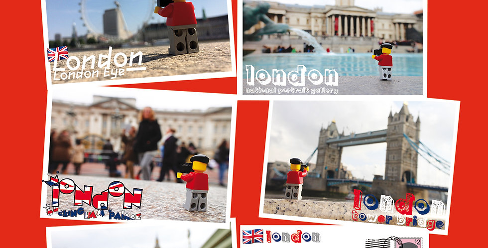London Postcard Pack (5) - The Travels of Roo