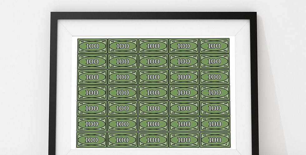 Printing Money I, by Little Big Art