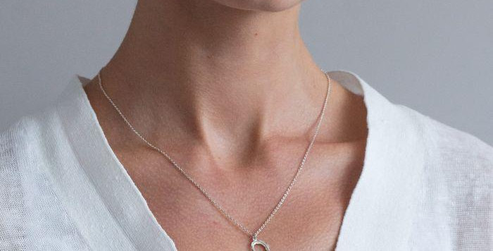 Alex Monroe - Delicate Feather Heart Necklace