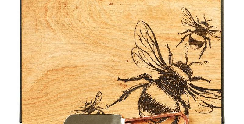 Bee Cheese Board & Knife Set