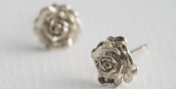 Alex Monroe - Rosa Damasca Earrings