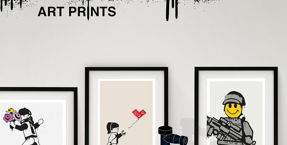 Bricksy A3 Art Print