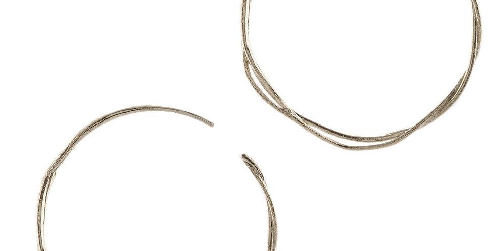 Fine Twist Hoop Earrings