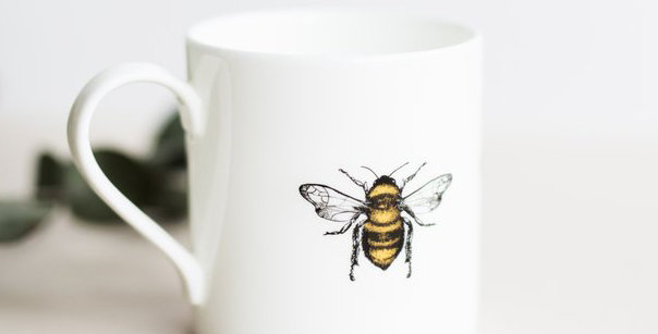 Fine China Bee Mug