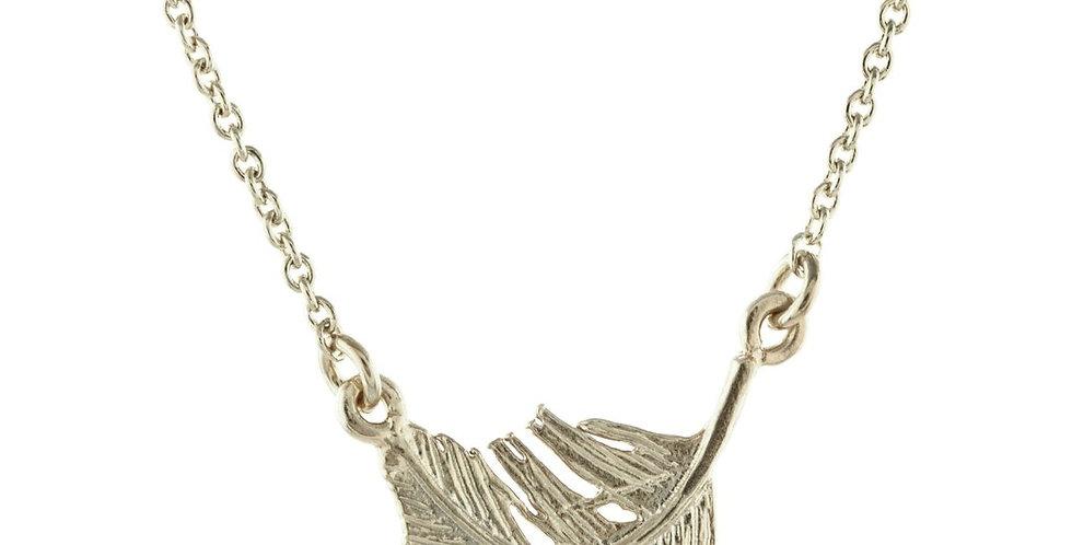 Alex Monroe Little Feather Inline Necklace