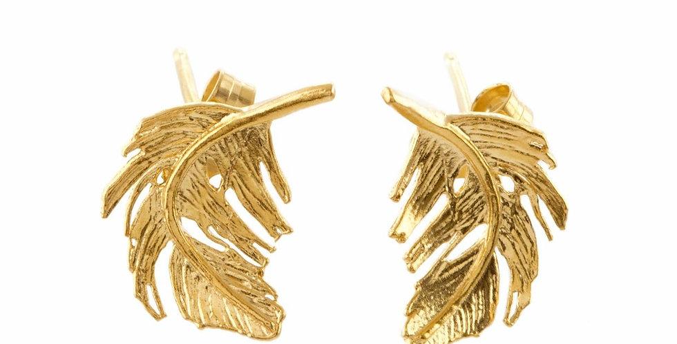 Alex Monroe Feather Stud Earrings