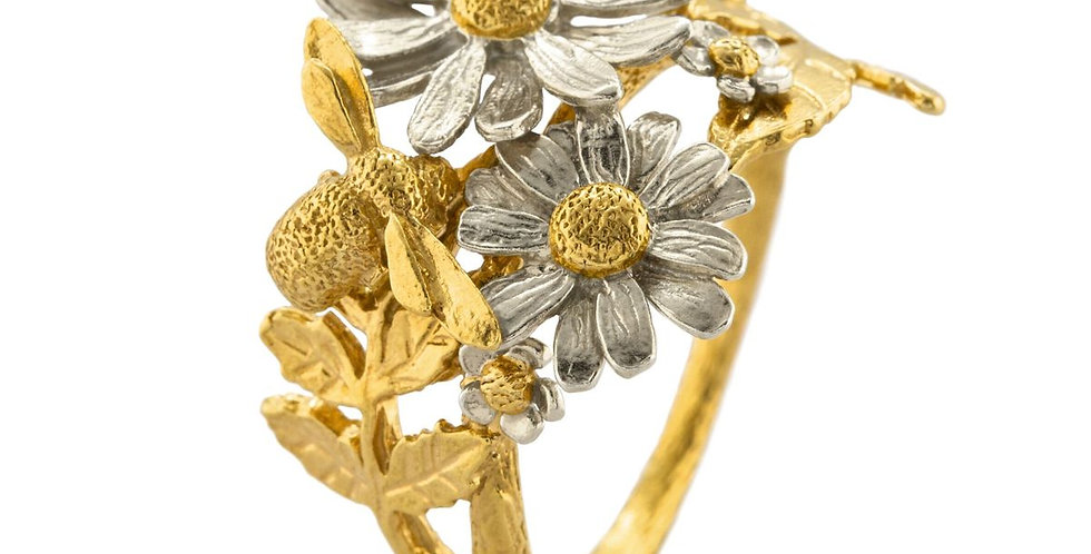 Alex Monroe Spring Posy Bee Cluster Ring 6