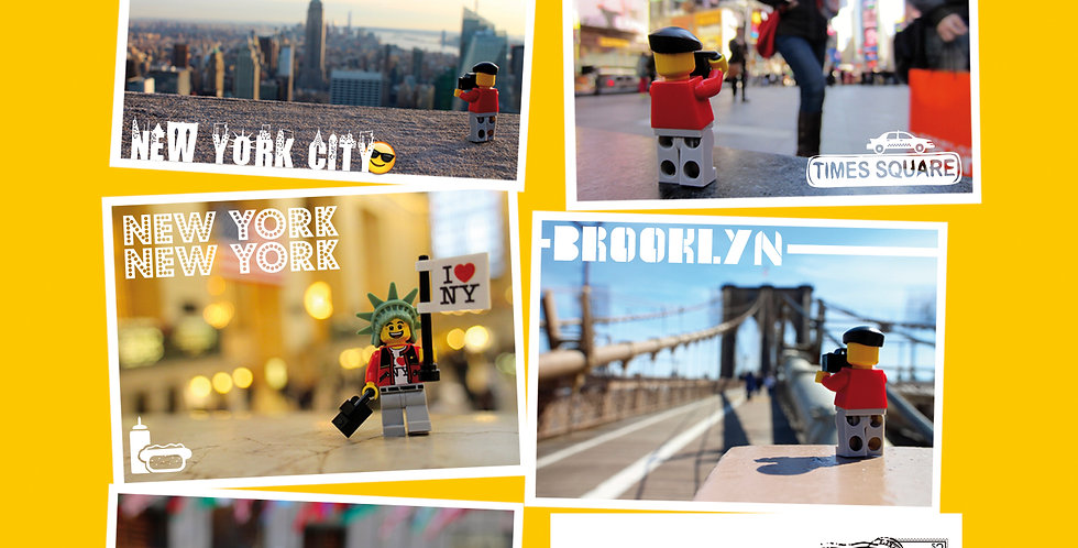 NYC Postcard Pack (5) - The Travels of Roo