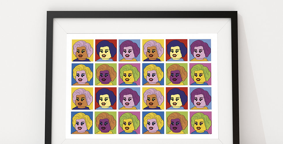 The Many (Many) Faces of Marilyn by Little Big Art