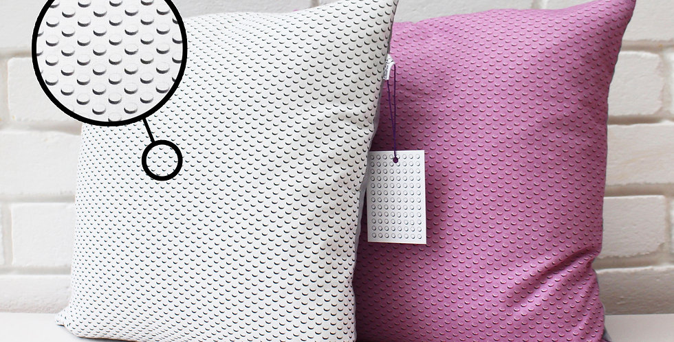 Brick Cushion (White / Pink)