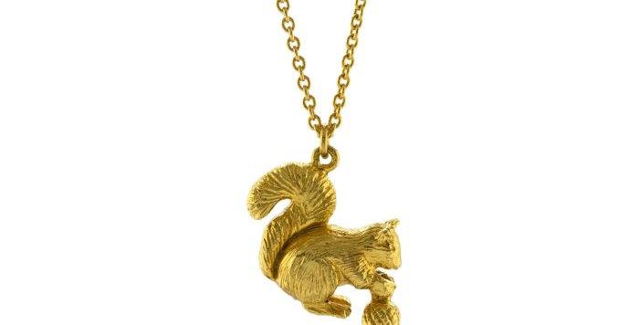 Alex Monroe - Squirrel & Acorn Necklace