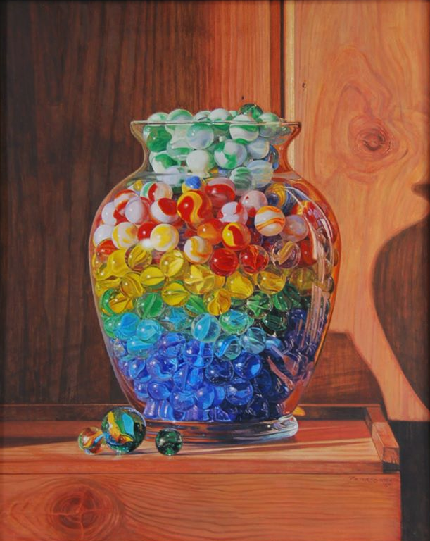 Vase of Marbles