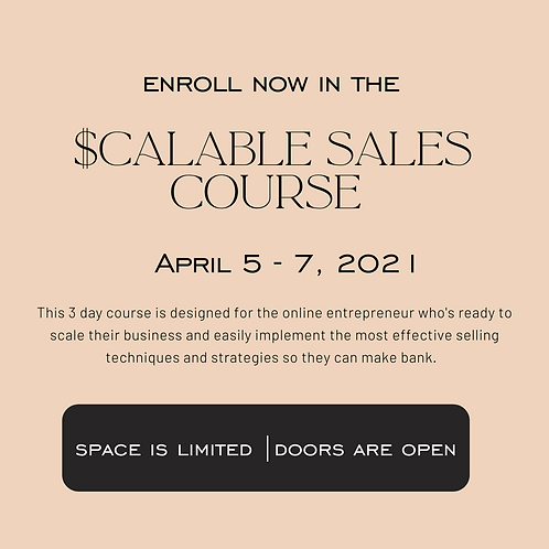 The Scalable Sales Blueprint Course