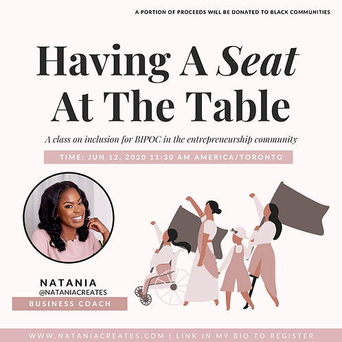 At The Table | A Class On Inclusion for BIPOC In Entrepreneurship