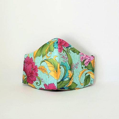 Spring Floral Mask. Includes Polypropylene  Insert.