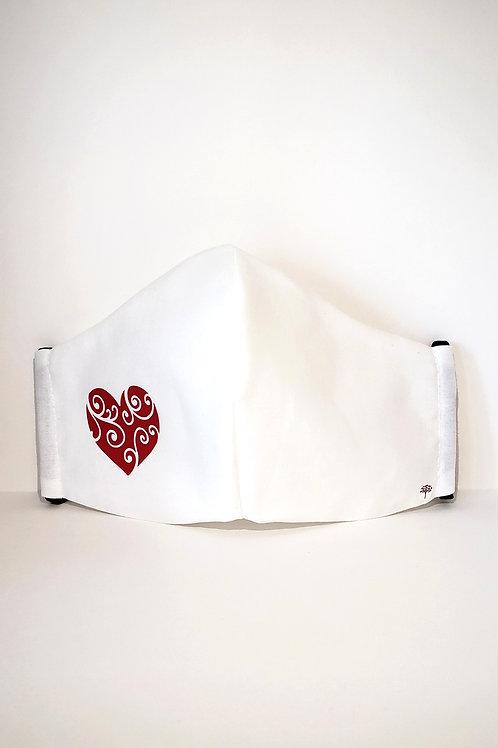Heart Mask.  Includes Polypropylene Insert