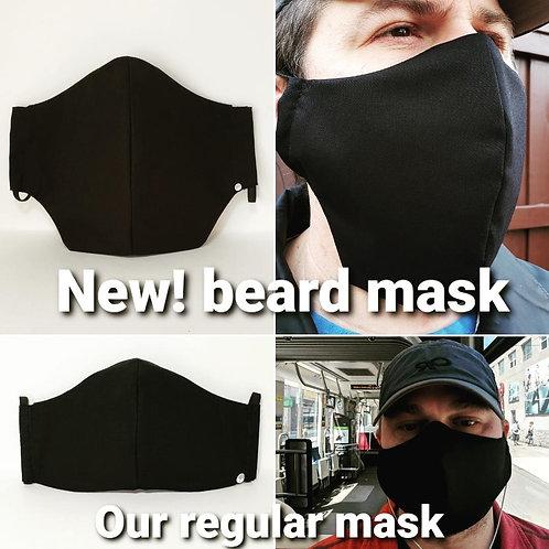 Beard Mask Includes Polypropylene Insert.