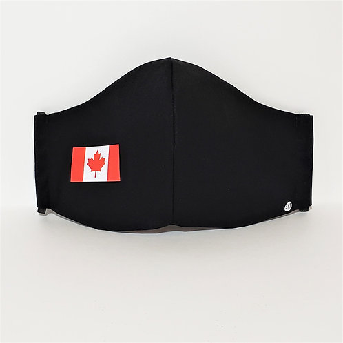 Canada Flag Mask.  Includes Polypropylene  Insert.