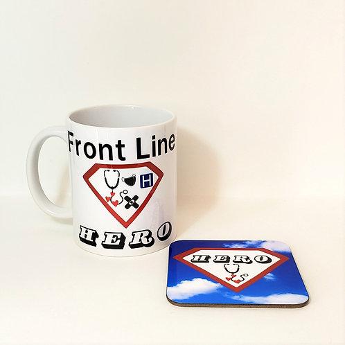 Front Line Hero Mug & Coaster Set