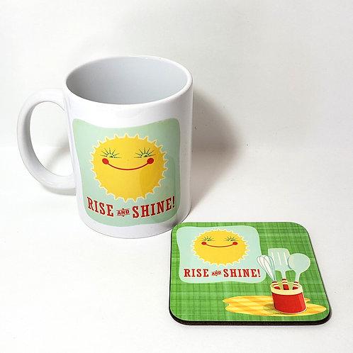 Rise and Shine Mug & Coaster Set