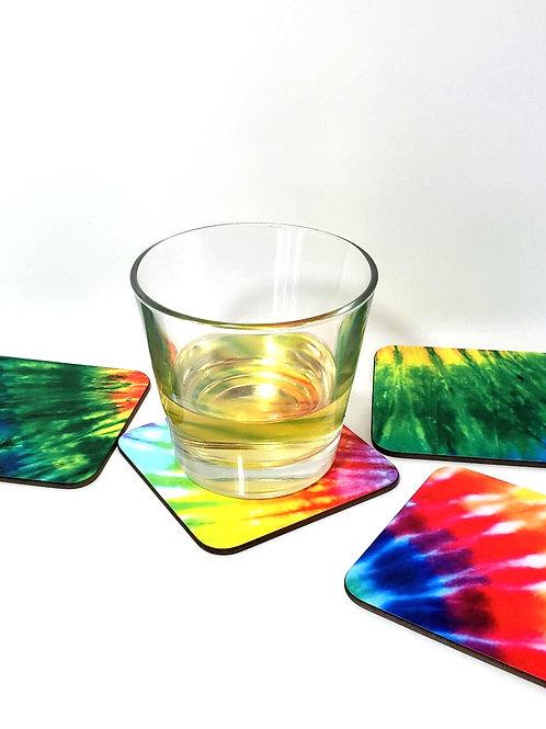 Tye Dye Style Coaster Set/4