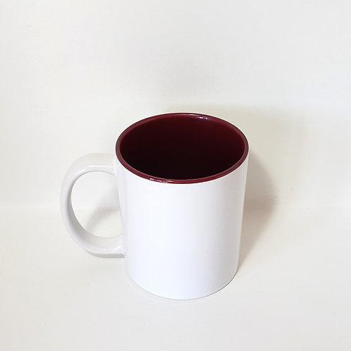 Burgundy 11 oz Mug Single Front Image