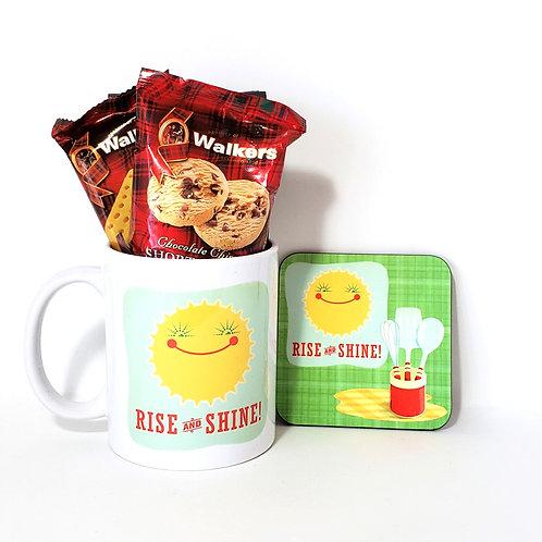 Shine Mug & Coaster Set Filled With Treats