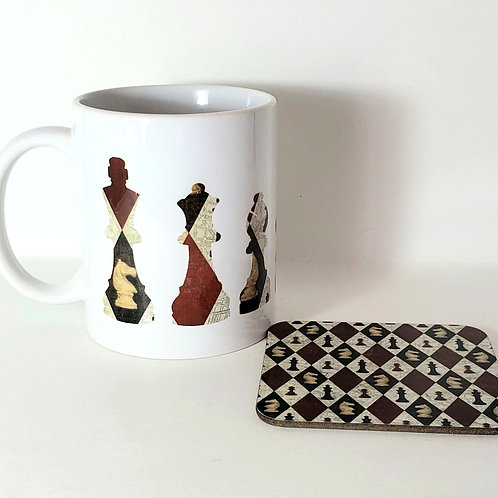 Chess Mug & Coaster Set
