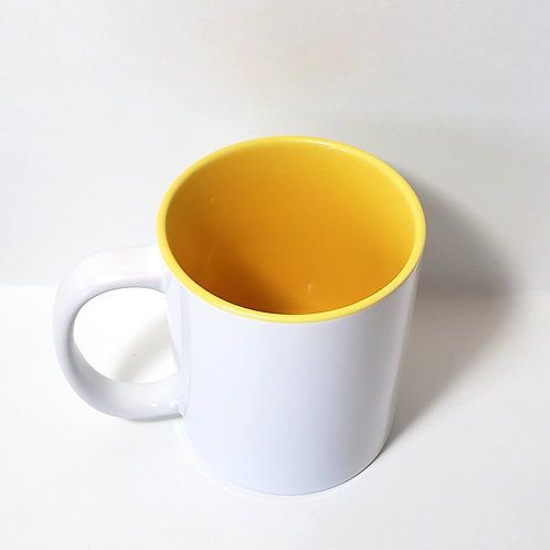 Yellow 11 oz Mug Single Front Image