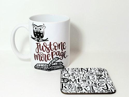 Just One More Page Mug & Coaster Set