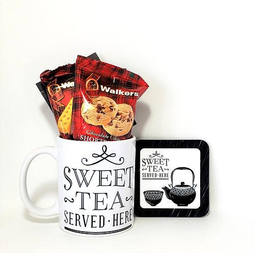 Sweet Tea Mug & Coaster Set Filled With Treats