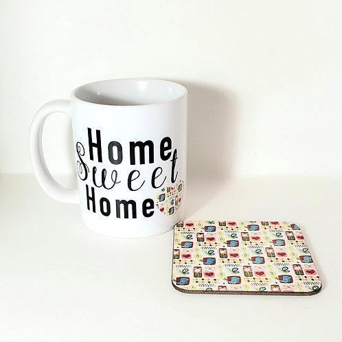 Home Sweet Home Mug & Coaster Set