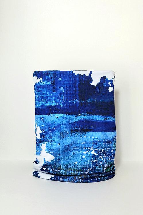 City Blue Cylinder Mask