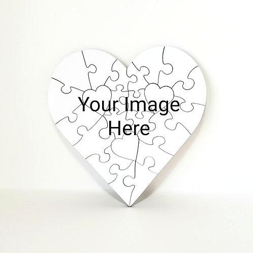 23 Piece Heart Custom Puzzle